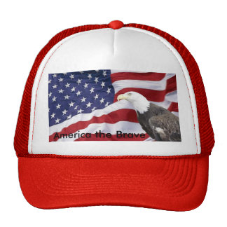 Eagle and Flag Ball Cap Trucker Hat