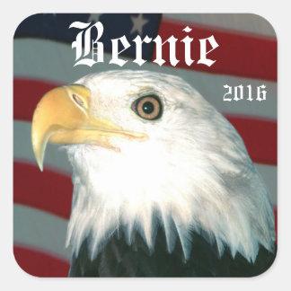 Eagle and Flag Bernie 2016 Square Sticker
