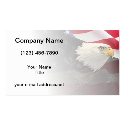 Eagle and flag business card template for Patriotic business card template
