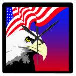 Eagle and Flag Clock