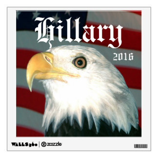 Eagle and Flag Hillary 2016 Wall Sticker