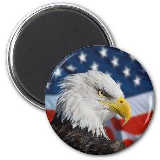 Eagle and Flag Magnet