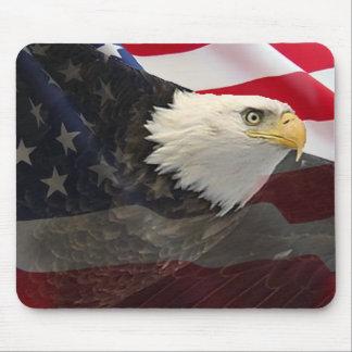 Eagle and Flag Mouse Pad