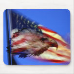 Eagle and Flag Mousepad