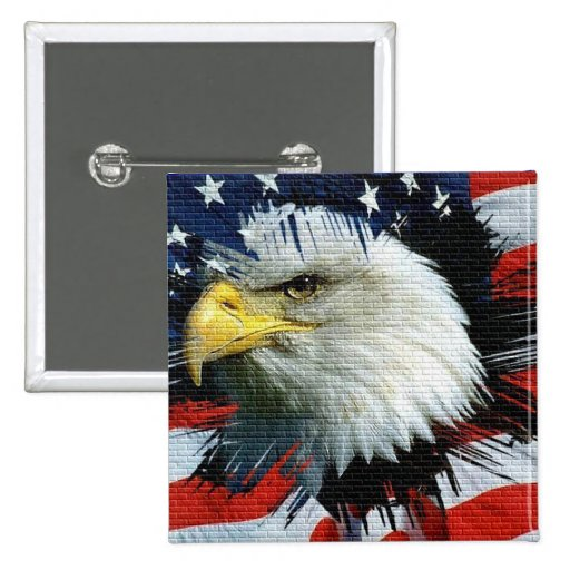 Eagle and Flag on an American Foundation Button