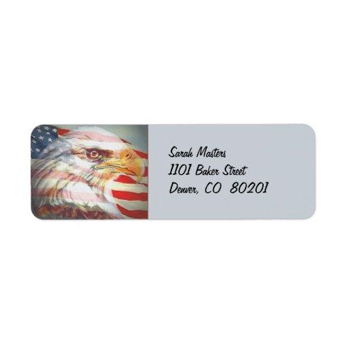 Eagle and Flag Return Address Label