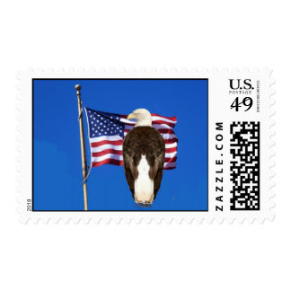 Eagle and Flag Stamp