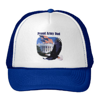 Eagle and Flags Proud Army Dad Hats
