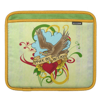Eagle and Heart Tattoo Design iPad Sleeve
