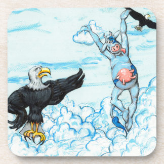 Eagle and Leaping Cow Drink Coasters