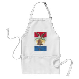 Eagle and Liberty Bell Fourth of July Adult Apron