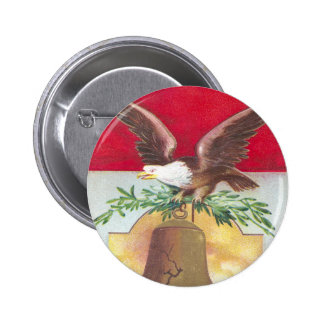 Eagle and Liberty Bell Fourth of July 2 Inch Round Button