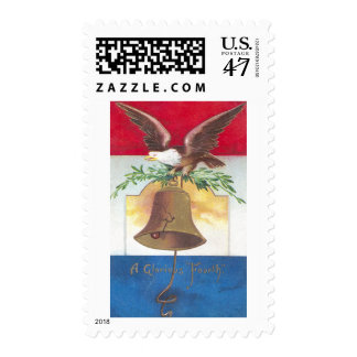Eagle and Liberty Bell Fourth of July Stamp