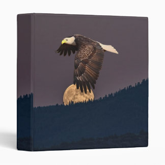 EAGLE AND MOON 3 RING BINDER