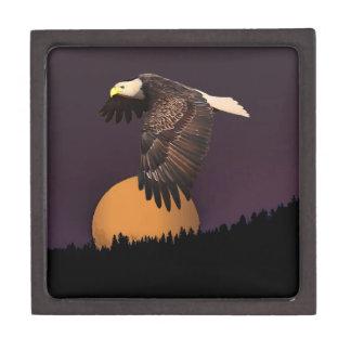 EAGLE AND MOON KEEPSAKE BOX