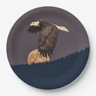 EAGLE AND MOON PAPER PLATE