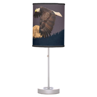 EAGLE AND MOON TABLE LAMP