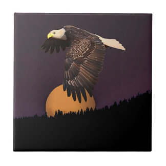 EAGLE AND MOON TILE