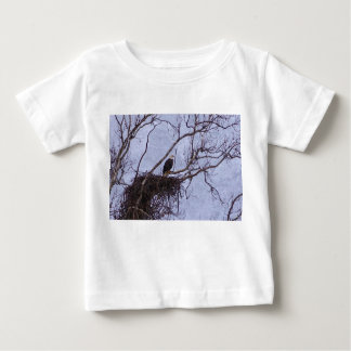 Eagle And Nest Painterly Baby T-Shirt
