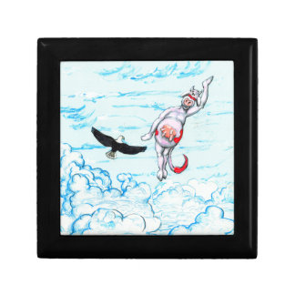 Eagle and pink leaping cow gift box