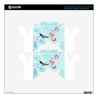 Eagle and pink leaping cow skin for PS3 controller