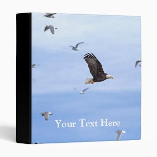 Eagle and Seagulls Flying 3 Ring Binder