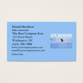 Eagle and Seagulls Flying Business Card