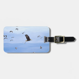 Eagle and Seagulls Flying Luggage Tag