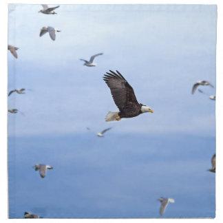 Eagle and Seagulls Flying Cloth Napkins