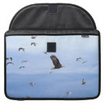 Eagle and Seagulls Flying Sleeve For MacBooks