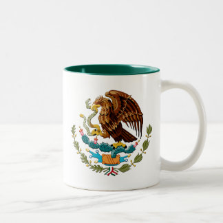 Eagle and snake Mexico Emblem for Mexicans Two-Tone Coffee Mug