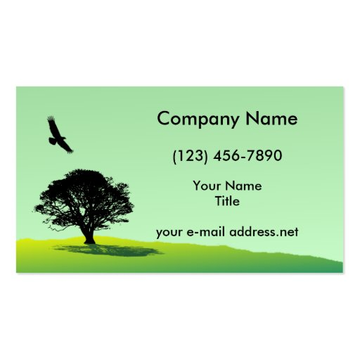 Eagle and Tree Double-Sided Standard Business Cards (Pack Of 100)
