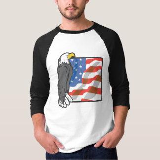 Eagle and US Flag T-Shirt
