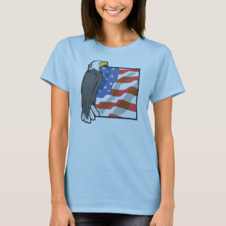Eagle and US Flag T-Shirt