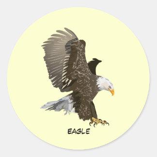 Eagle animado pegatina redonda