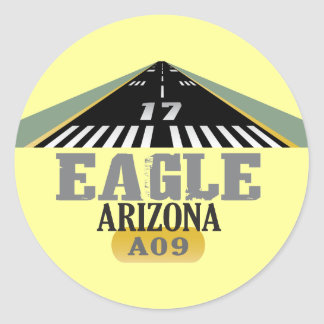 Eagle Arizona - Airport Runway Classic Round Sticker