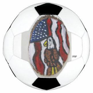 Eagle art soccer ball