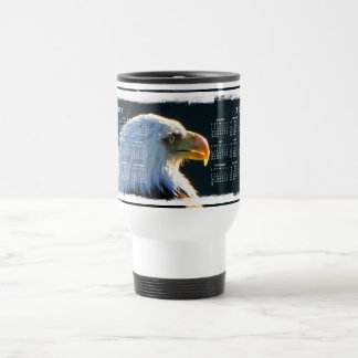 Eagle At Attention; 2012 Calendar Travel Mug