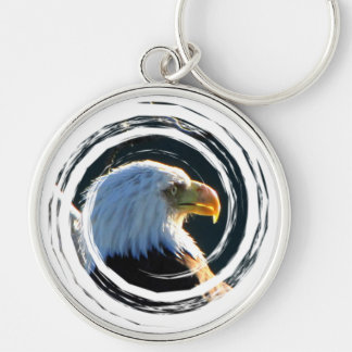 Eagle at Attention Keychain