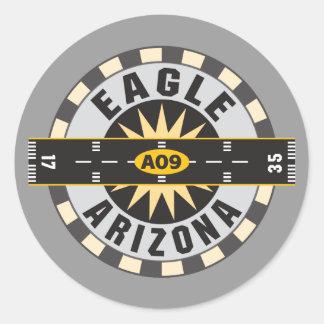 Eagle, AZ A09 Airport Classic Round Sticker