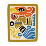 Eagle azteca mexicano postal