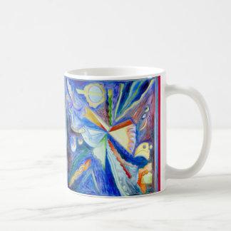 Eagle azul con rojo taza de café