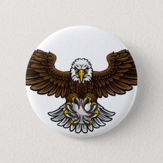 Eagle Baseball Sports Mascot Pinback Button