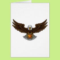 Eagle Basketball Sports Mascot Card