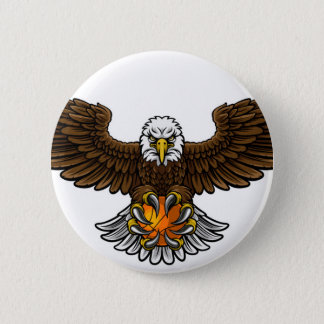 Eagle Basketball Sports Mascot Pinback Button
