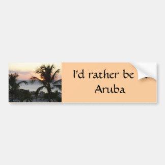 Eagle Beach Aruba Sunset Bumper Sticker Car Bumper Sticker