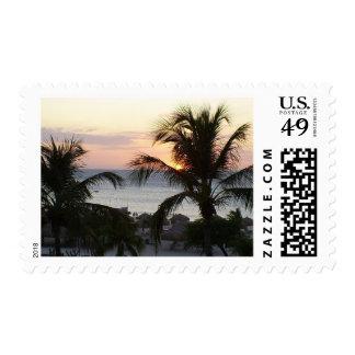 Eagle Beach Aruba Sunset Stamps