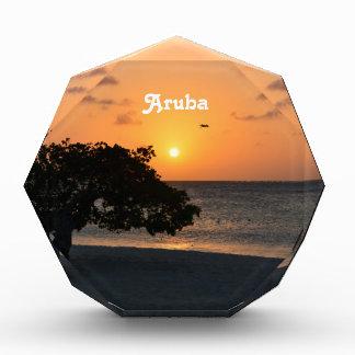 Eagle Beach Sunset Acrylic Award