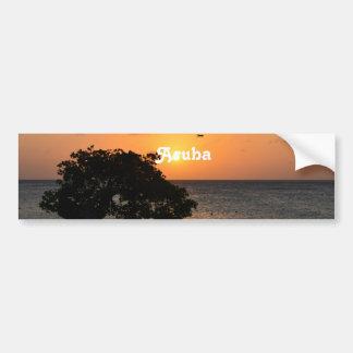 Eagle Beach Sunset Car Bumper Sticker