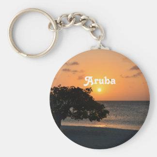 Eagle Beach Sunset Key Chain